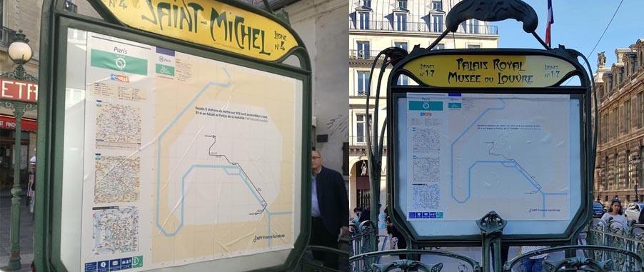 Accessibilité : Carton Rouge pour le Métro de Paris 1